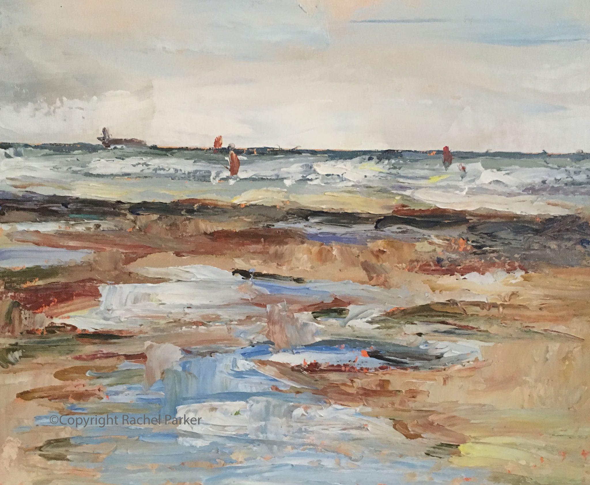 Beach Scene Ile De Re 1